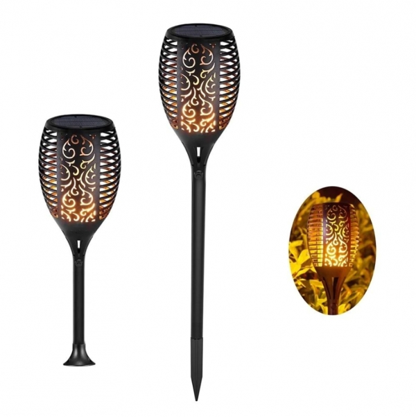 Solar led flame waterproof garden decoration