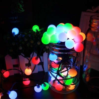 Multicolored Orb Solar Decoration Lights